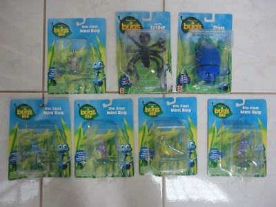 BUG'S LIFE Action Figure Lot of 7 Near Mint/Mint Complete!