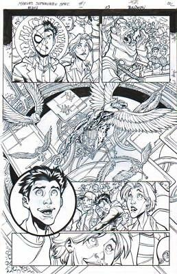 Spider-Man, Aunt May Original Ink Art-David Baldeon/ Scott Hanna 2016!