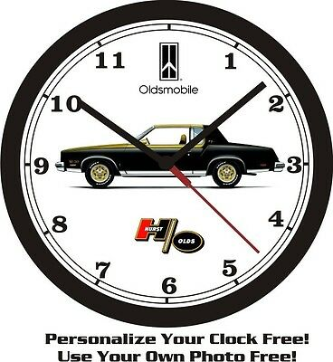 1979 Oldsmobile Hurst-Olds W30 Big 10 Inch Wall Clock-Free Usa Ship!