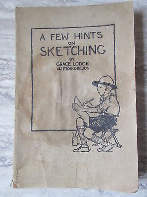 Old Vintage Boy Scout book A Few Hints on Sketching