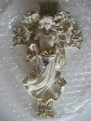 Collectible Youngs Guardian Angel Collections Nib Angelwith Purple Basket Nib