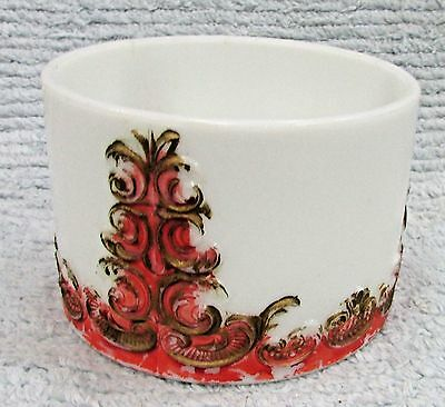 Old Round Antique Embossed White Milk Glass Vintage 3x5 Dish Bowl FREE S/H