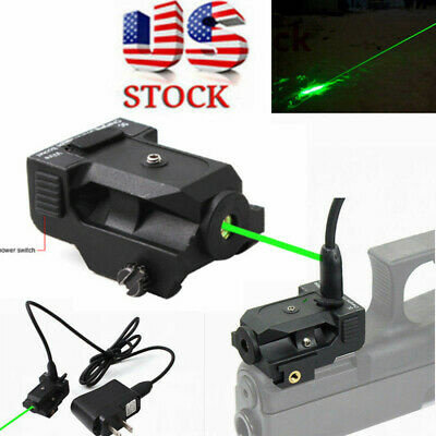 US Rechargeable Subcompact Micro Green Dot Laser Sight for Pistol Rifle Scope