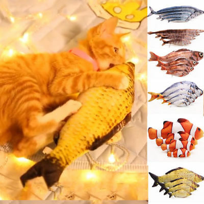 Pet Cat Kitten Chewing Cat Toys Stuffed Fish Mint Pet Interactive Kitten