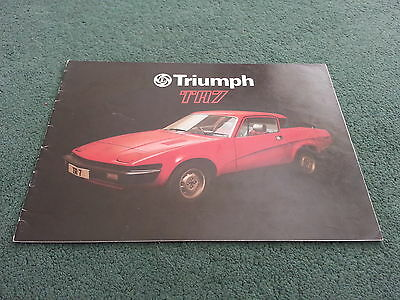 February 1977 TRIUMPH TR7 FIXED HEAD COUPE - UK BROCHURE - PUBLICATION NO. 3256
