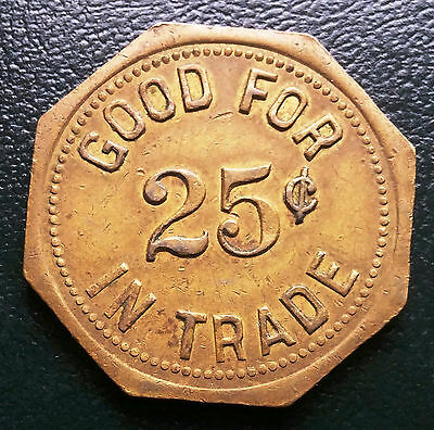 Good for 25 Cents Mary Anne Social Barbotte Club Inc Token - D20