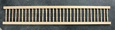 Melody Jane Dolls House Fixtures Fittings 1:12 Natural Wood Porch Railing Round