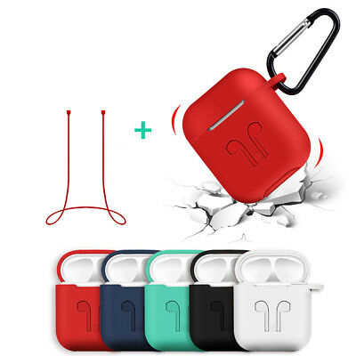 3in1 Silicone Case Cover Earphone Pouch Protect Skin Anti-lost Wire for AirPods