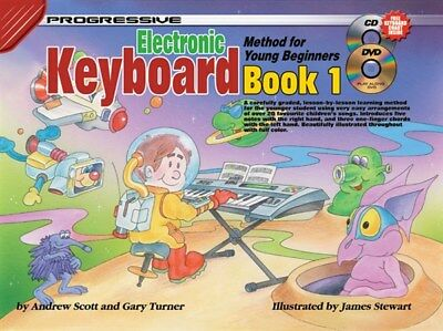 Progressive Electronic Keyboard For Young Beginners Book 1 + CD & DVD & Chart