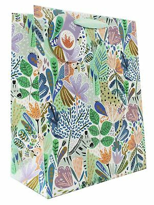 Large Gift Bag For Her Ladies Jungle Exotic Animal Luxury Birthday Occasion Tag