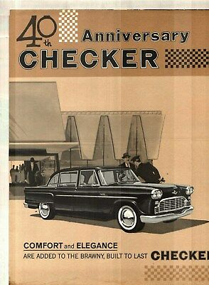 1962 40th ANNIVERSARY CHECKER MARATHON & SUBURBA DELUXE SALES BROCHURE