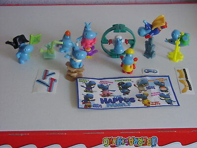 The Happos Family Komplettsatz 8 Figuren + 8 BPZ + 4 gültige Gewinn Codes