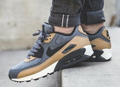 New NIKE Air Max 90 Wool Mens gray beige sneaker all sizes