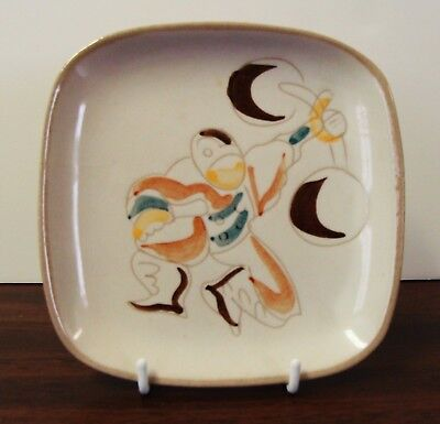 Glidden Mid Century Modern Ernest Sohn Art Pottery Circus Canape Or Snack Plates