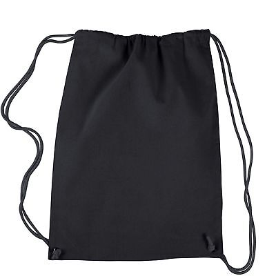 Lot of 4 Black Drawstring Backpacks Customize Blank Personalize Bag Favors