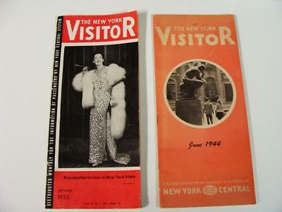 New York Central Visitors Guides 1944 & 1953 Hotels Events Tours Maps Etc