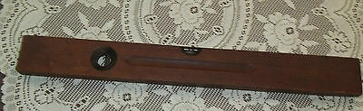 """rare ANTIQUE stanley SW # 2 wood with brass 28"""" level 1908"""