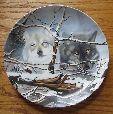 """Eyes In The Mist 8"""" Collector's Plate by David Renn Pierce 1993"""