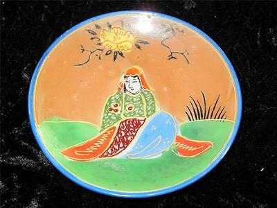 Vintage Hand Painted Japanese Porcelain Pin Dish GENUINE SAMURAI CHINA 1950s