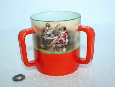 Royal Bayreuth Bavaria Porcelain 3 Handle Mug Stein Cup Men Tankard Pub Bar OLD