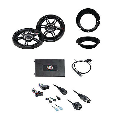 Metra Bluetooth Audio Interface W/Crunch Car Speakers Pair & Metra Mounting Ring