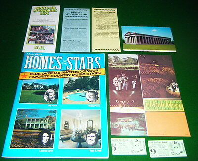 1976 Grand Ole Opry Tickets, Broch, HOMES of the STARS Book, PARTHENON Post Card