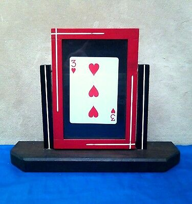 Vintage/ Antique Unknown Card Frame Wood Magic Rare Collectible