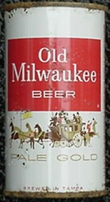 OLD MILWAUKEE PALE GOLD BEER CAN (1950s) COACH & HORSES LABEL
