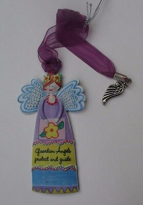 bb Guardian Angel protect and Guide wing car charm ALWAYS AN ANGEL Ornament