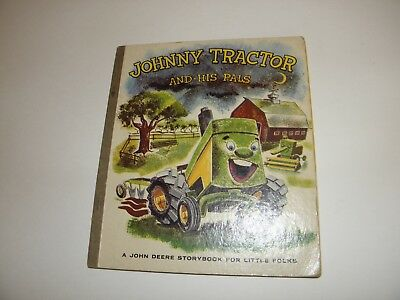 Johnny Tractor and His Pals John Deere Storybook Roy Bostrom Art 1st 1958 Good-