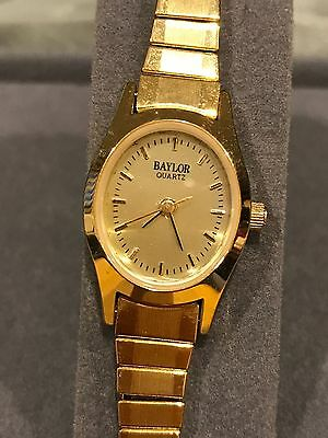Vintage NEW Baylor Quartz Womens Watch Goldtone Stainless Back~Japan Movement