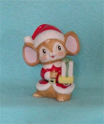 Vintage Homco Santa Mouse with Gift #5405 - Hard to Find!