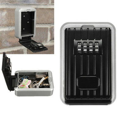 Weather Resistant 4 Digit Wall Mounted Combination Locker Key Safe Box Storage