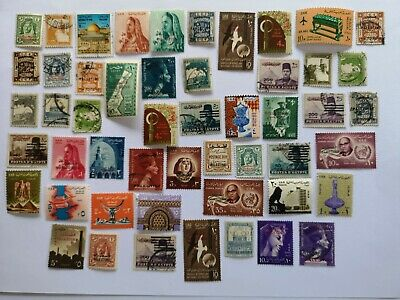 50 Different Palestine Stamp Collection