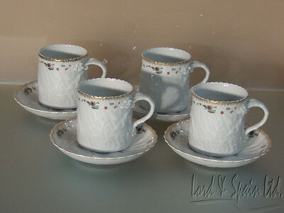 4 Mottahedeh Vista Alegre SWAN Cups & Saucers