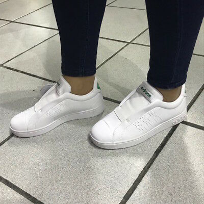 ADIDAS SNEAKERS SHOES Woman White Advantage Adapt stan smith style ... d043ac9be