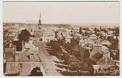 Haddington in WW1 Era Real Photo (Glossy Sepia) PPC by C.Bruce, GVG Used 1921