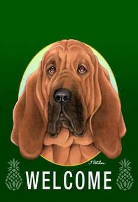 Large Indoor/Outdoor Welcome Flag (Green) - Bloodhound 74073