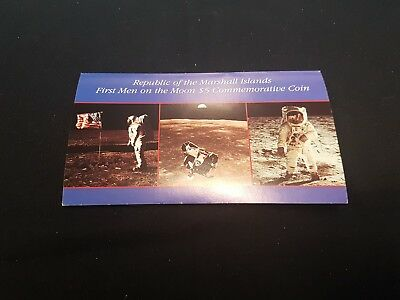 Republic of Marshall Islands. First Men on the Moon $5 Commemorative. - (INV. X)