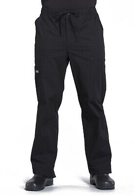 Black Cherokee Scrubs Workwear Professionals Mens Drawstring Pants WW190 BLK