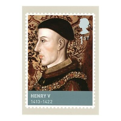 Henry V - Houses Of Lancaster & York, Kings & Queens Phq 308 Royal Mail Postcard