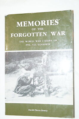 WW1 Canadian CEF Memories Of A Forgotten War Reference Book