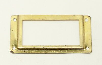 Brass Name Box or Drawer Plate
