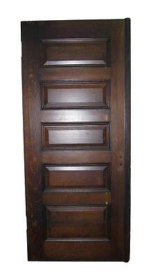 Old Tiger Oak Door with 5 Horizontal Panels