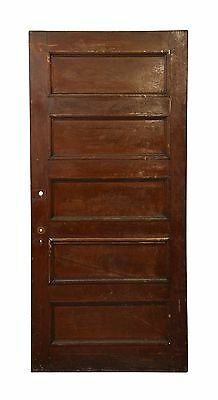Dark Wooden Five Panel Door