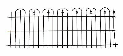 Simple Hoop & Spear Wrought Iron Fence Rail Lot