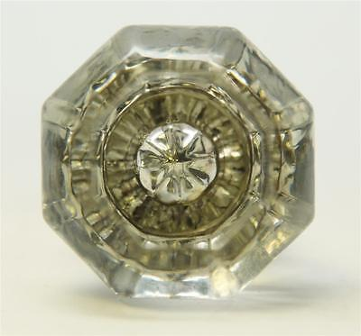 Clear Cut Glass Octagon Shaped Door Knobs