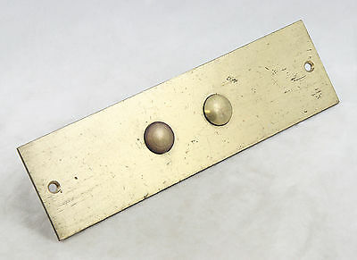 Gold Brass Mid to Late 1900's Elevator Plate