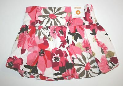 NWT Gymboree Girls Star of the Show Floral Corduroy Skort Size 7