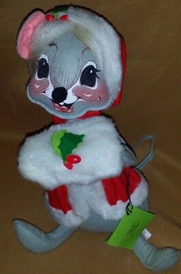 """Large VINTAGE Annalee Dolls Mobilitee CHRISTMAS Mouse 13"""""""